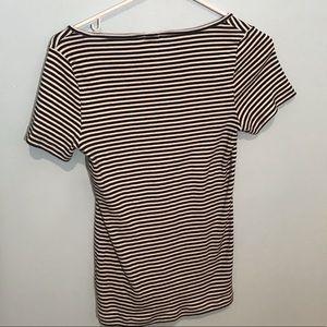 J. Crew Tops - (4/$15)Jcrew black and white striped T-shirt!